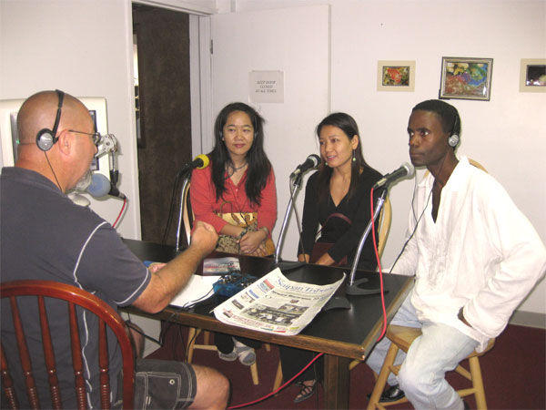 Chun's first interview on Harry Blalock radio show, Saipan